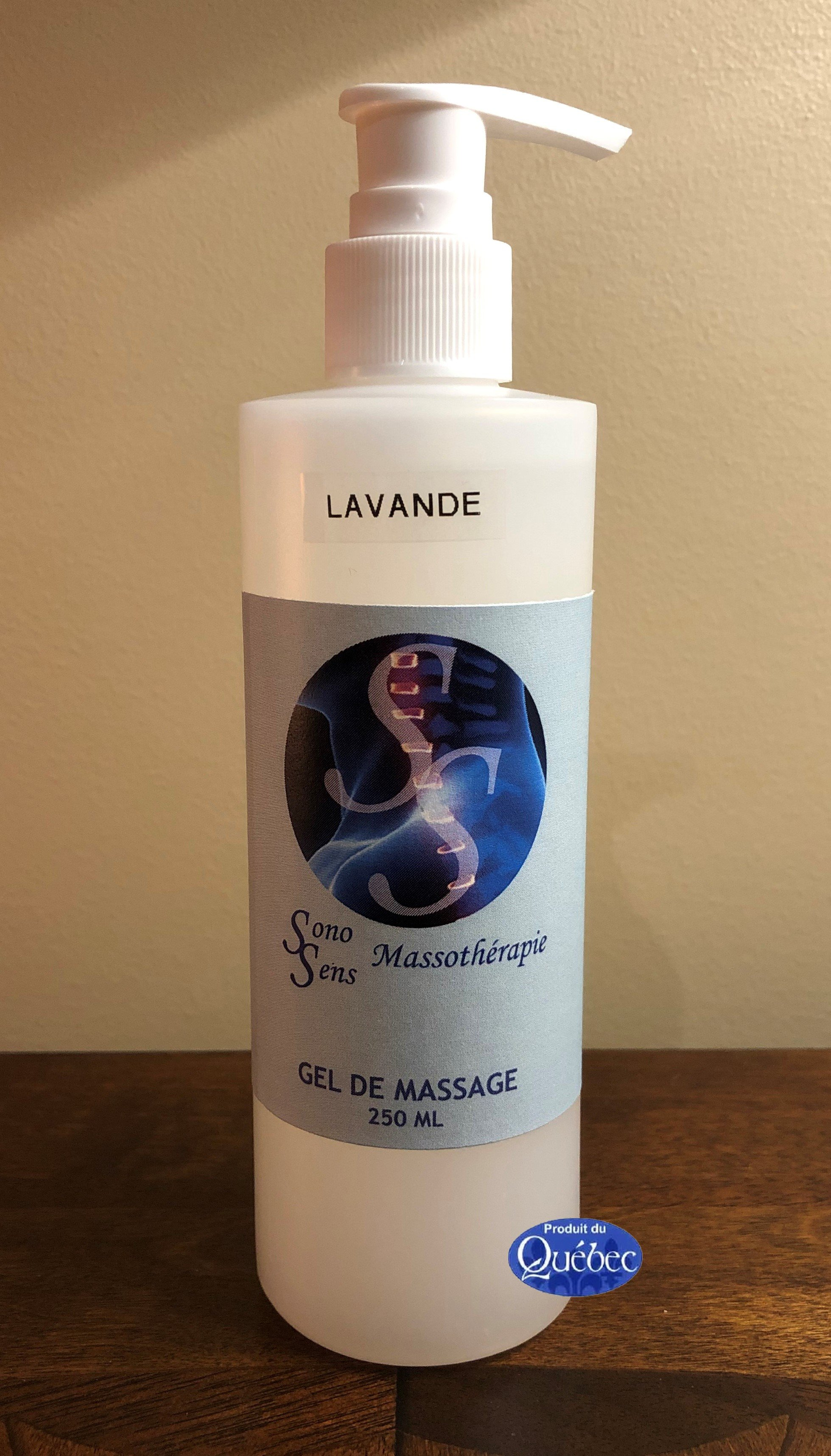 Gel de massage Ridha 250 ml Avec HE de Lavande ou d'Agrumes 12.38$ plus taxes