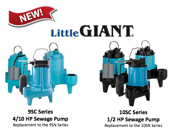*NEW* Little Giant Sewage Pumps