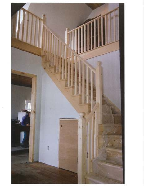 Winder pine stair