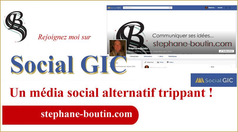 Devenez membre !  Social GIC est l'ancien Facebook. Donc si vous aimiez Facebook avant 2020, vous apprécierez.