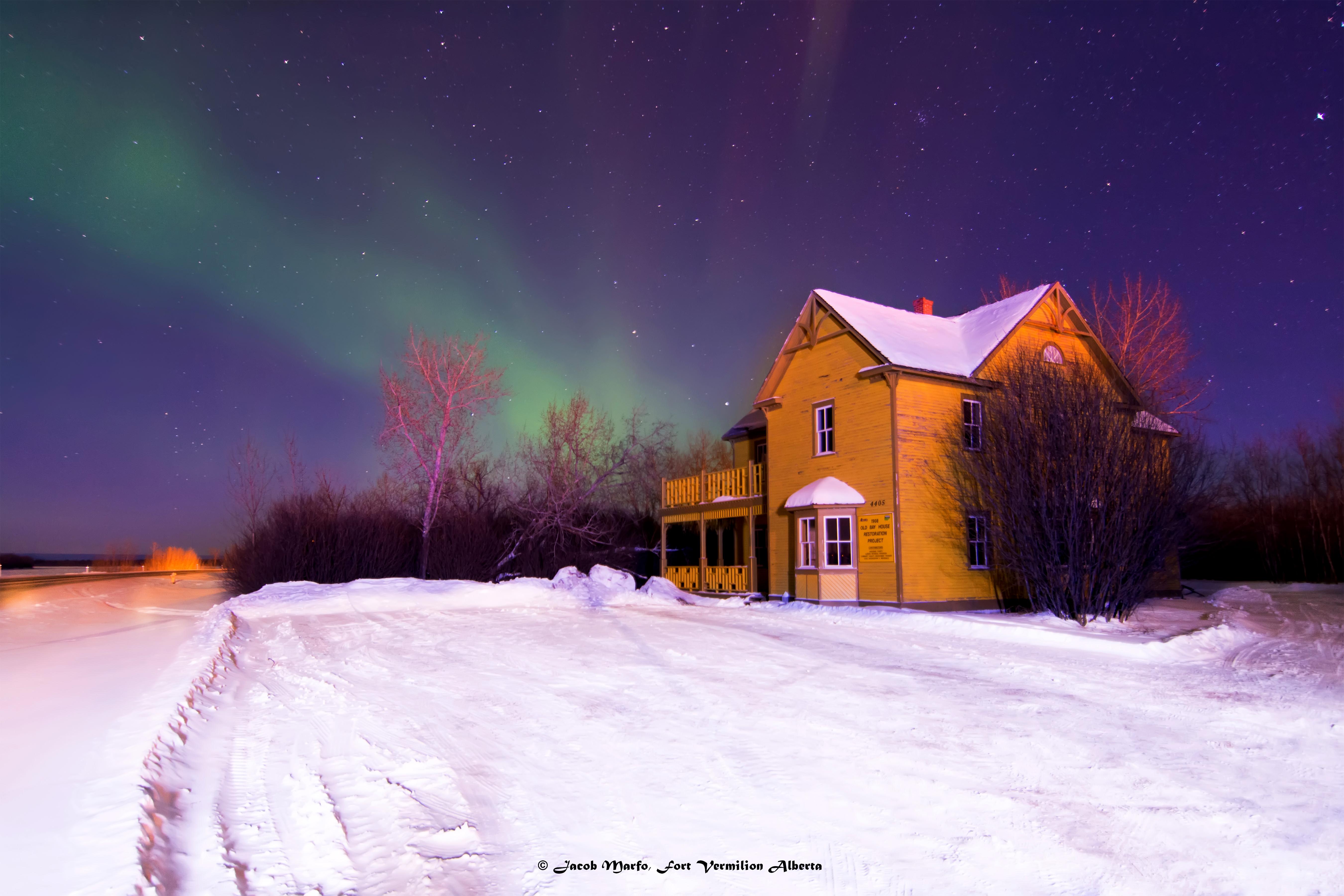 Northern lights over the OBH. Photo Credit: Jacob Marfo