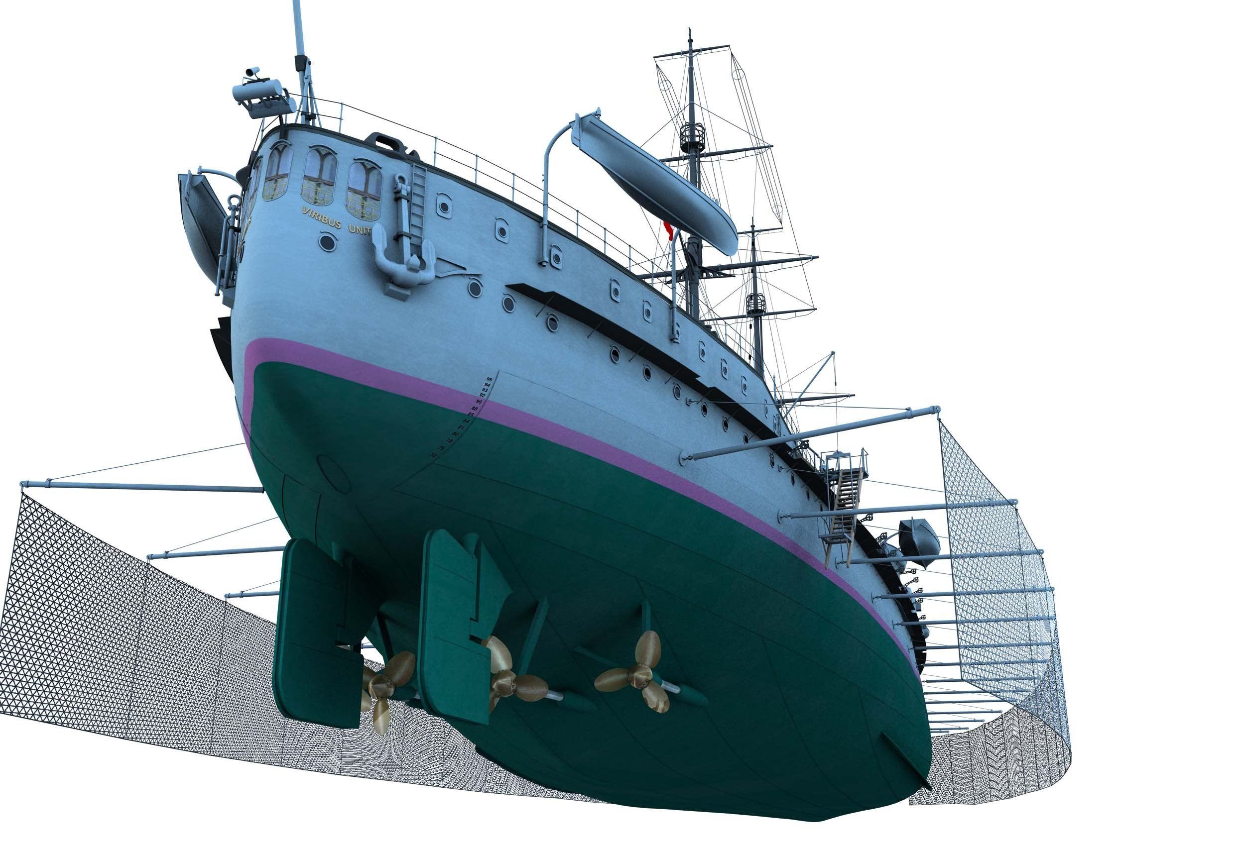https://0901.nccdn.net/4_2/000/000/001/abd/CK123-Partial-Ship-Stern-Rudders-with-Torpedo-Nets-Swung-out-2500x1700.jpg