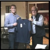 Eric LeBlanc (President) with January Speaker Andrew Lavoie