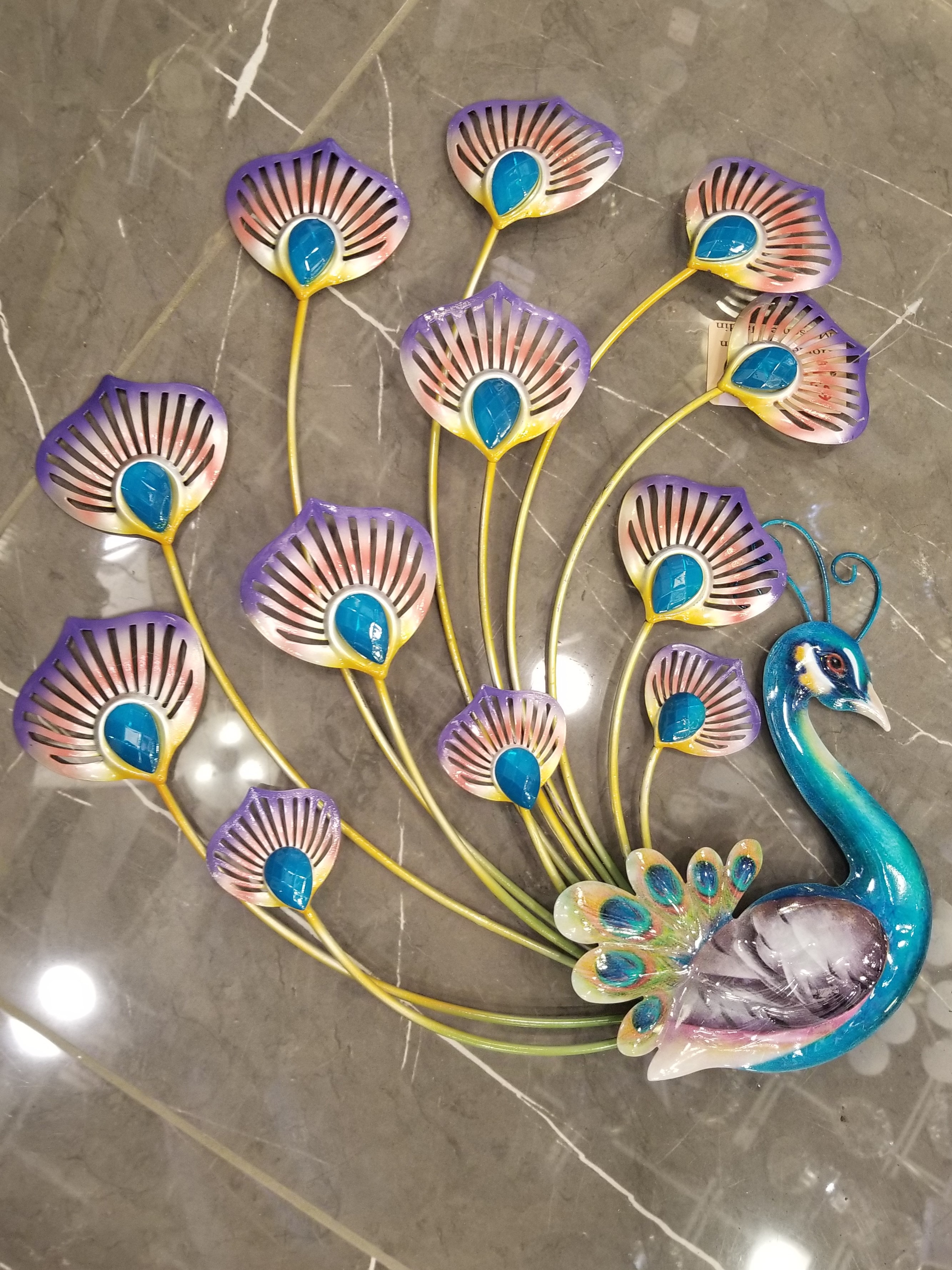 508 ALH104 Peacock Wallart Reg. Price $44.99 Blowout Price $31.99