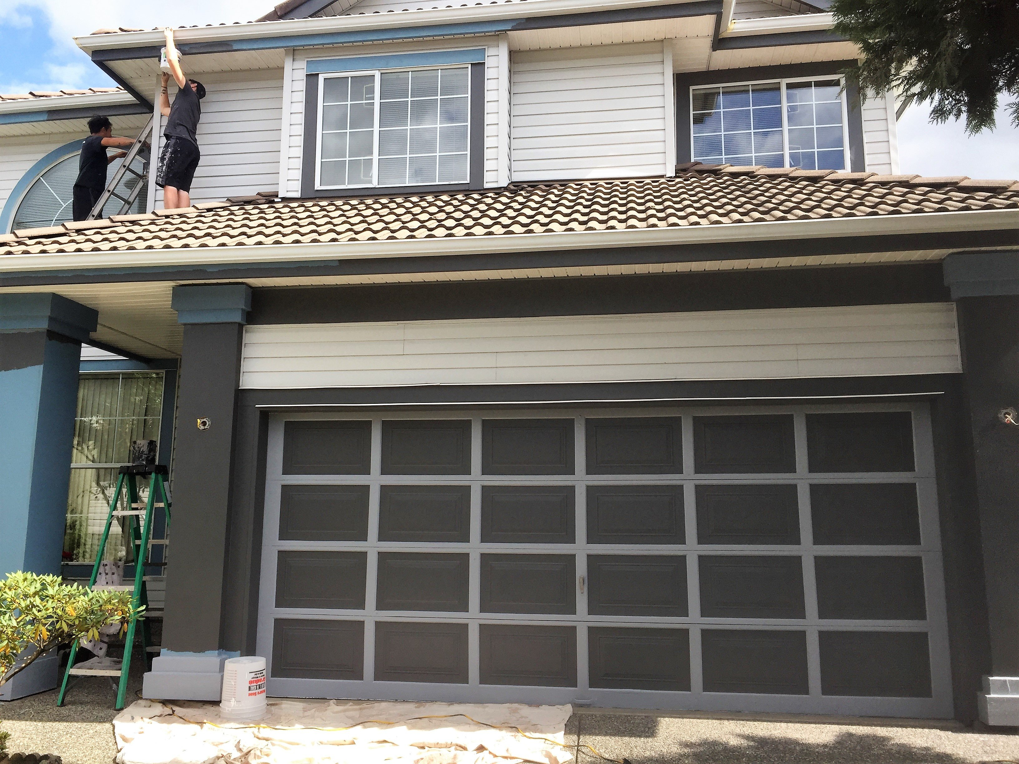After garage door has been painted.