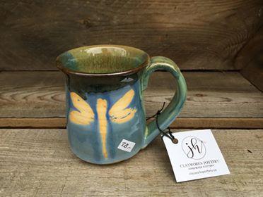 "Small Dragonfly Mug 3"" x 3.5"" $28"