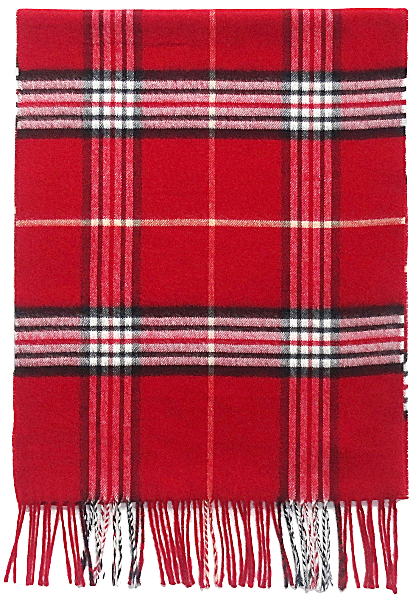 Fraas Plaid in Red- $35.00 Cashmink, Made in Germany 7718990809604