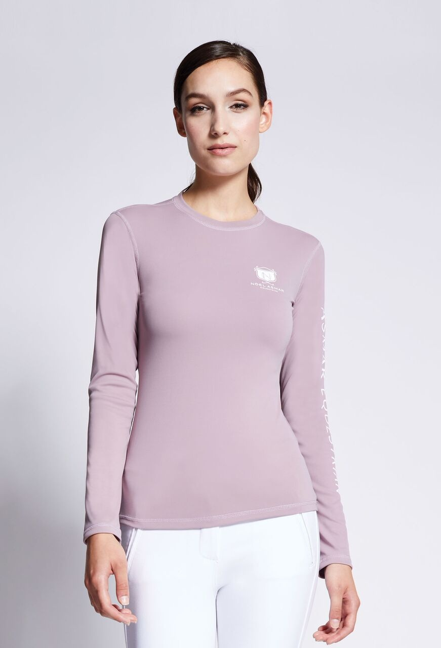 Long Sleeve Logo Tee Dusty Mauve $78