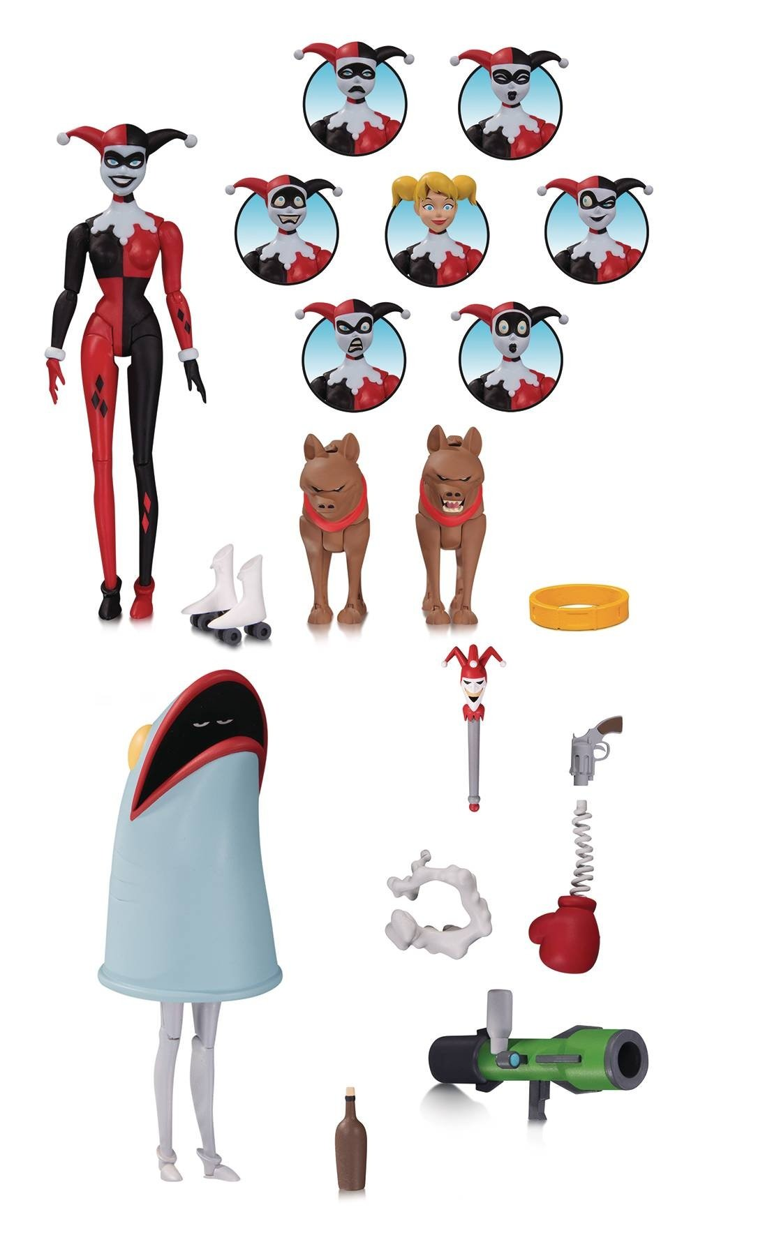 BATMAN ANIMATED HARLEY QUINN EXPRESSIONS PACK