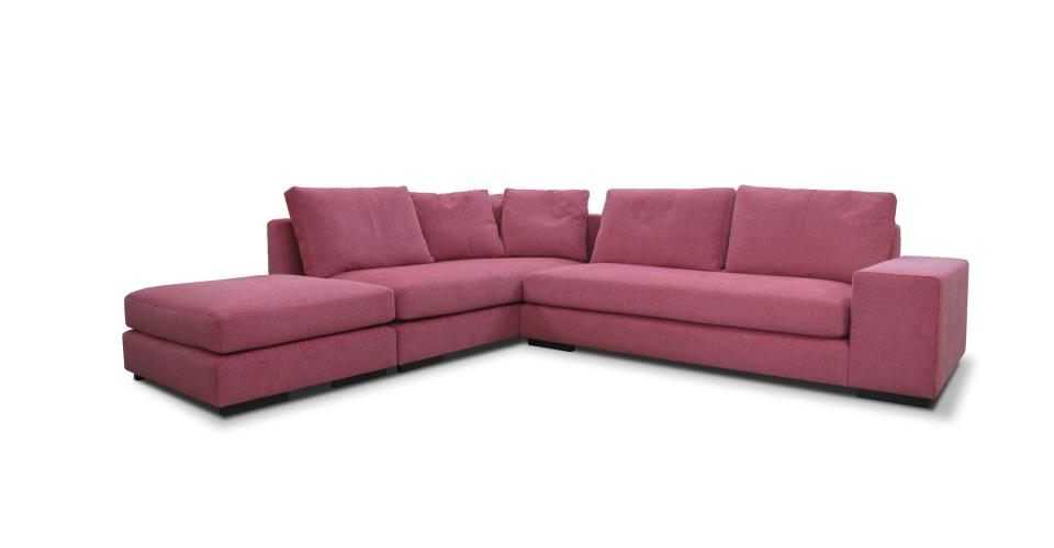 Pink-boa sectional