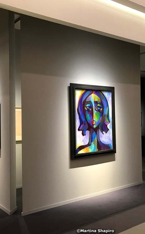 Blue Woman abstract portrait artist Martina Shapiro