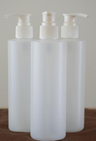 Bouteille en plastique avec pompe 250 ml  3.00$ plus taxes