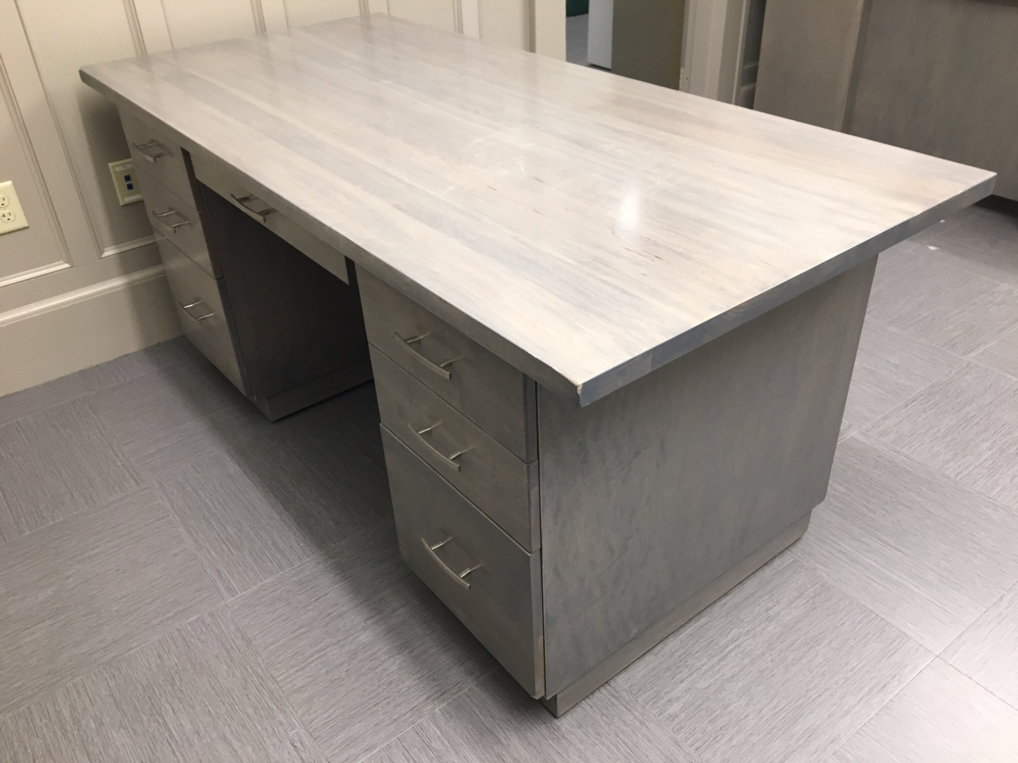 Contemporary Grey Desk