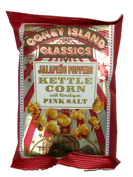 CPOP42JP Coney Island Kettle Popcorn with Himalayan pink salt - Jalapeno Poppers 42.5 gr