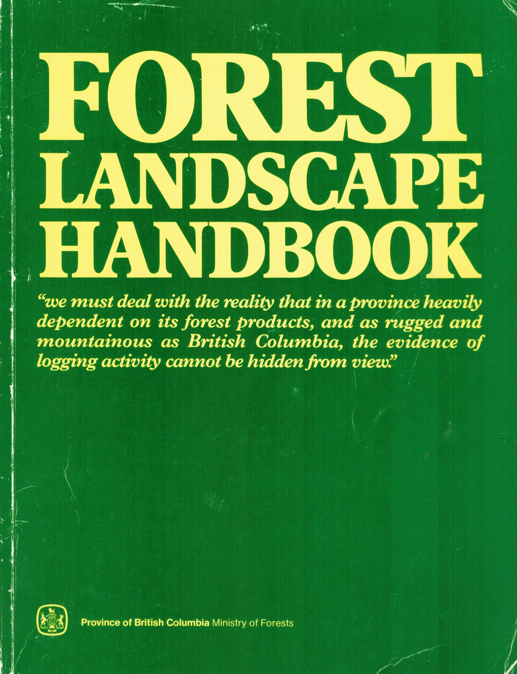Original Forest Landscape Handbook Cover 1981