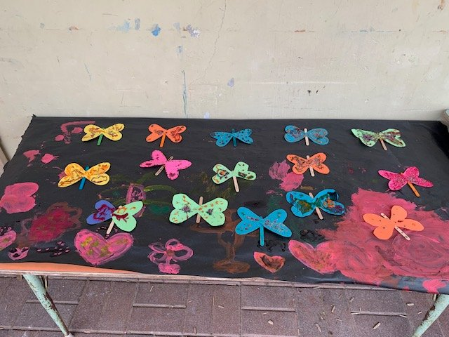 Look at all the butterflies we made