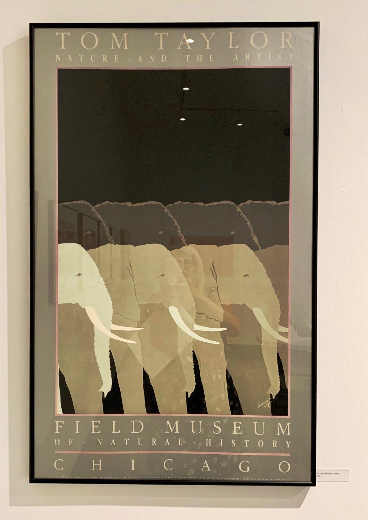 Tom Taylor exhibition poster framed $150 pick up only