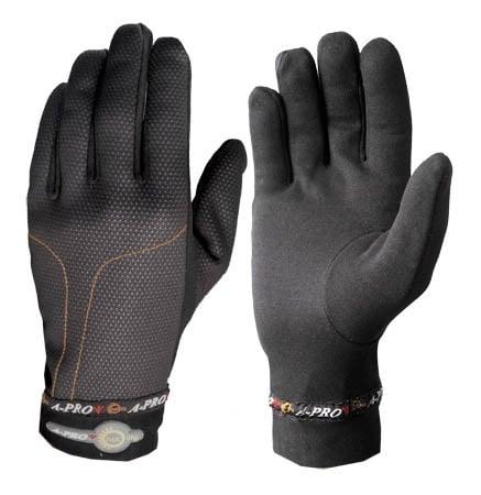 Sous gants Thermo A-Pro Sous gants en matière thermique qui permet de gagner quelques  degrés à l'intérieur des gants le  matin ou le soir ou par temps  frais. A avoir toujours dans sa poche. Taille: S -  M - L 19.13$