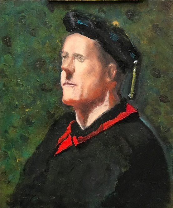 "The Priest oil on canvas 20"" x 24"""