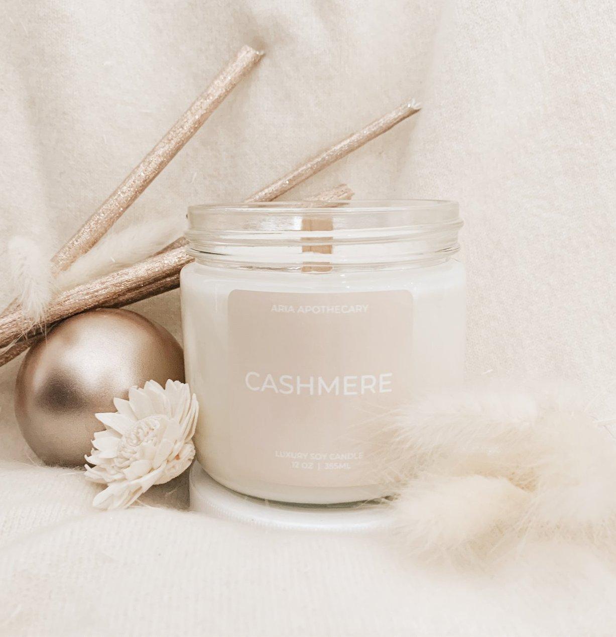 Cashmere Bergamot, White Jasmine  and Patchouli * Wooden Wick