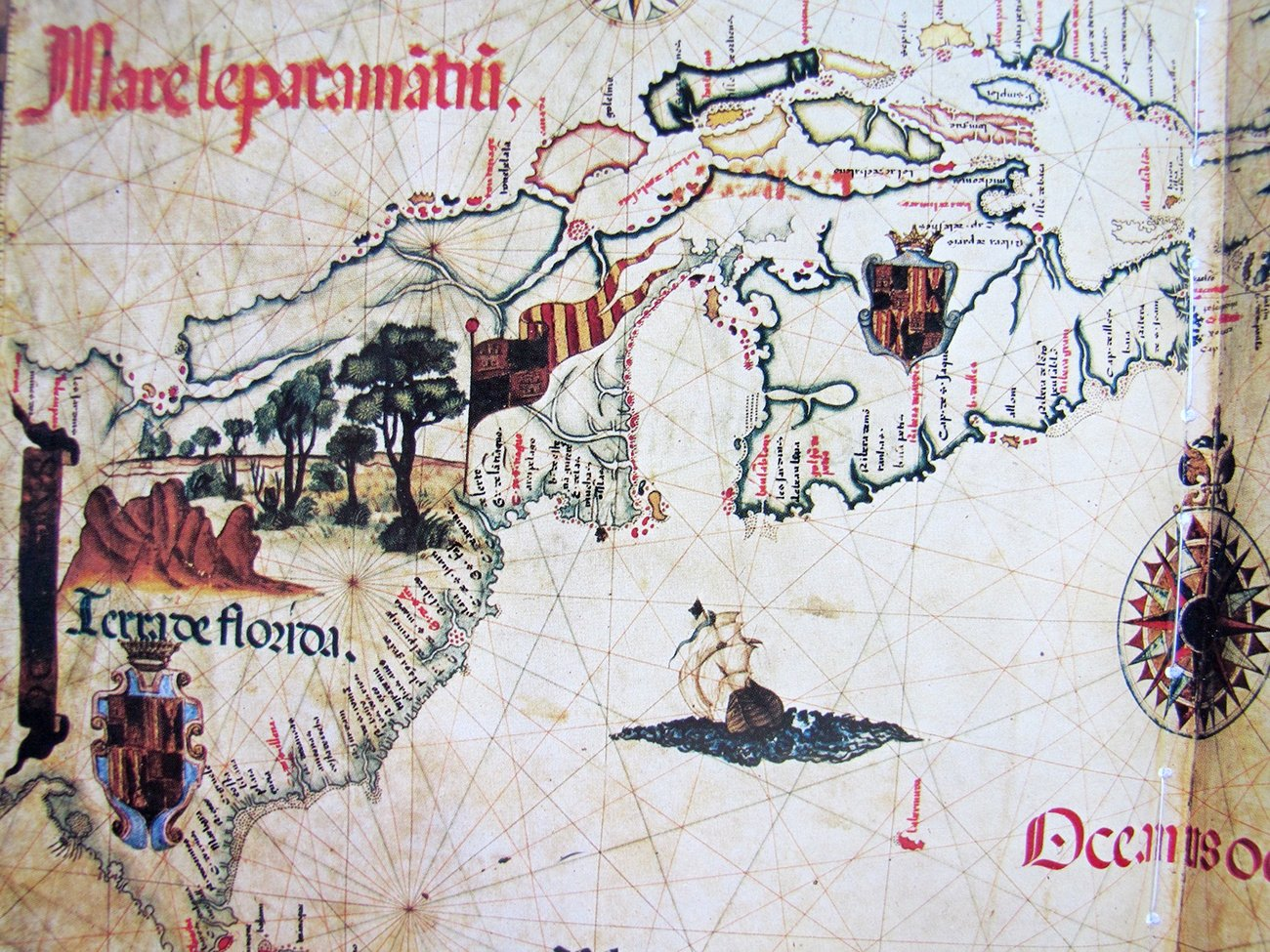 Diego Homen's 1558 Map based on second hand accounts contained many errors and omissions