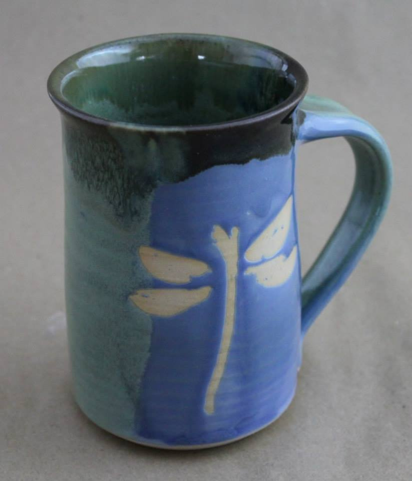 """Dragonfly Mug 3"""" x 4.5"""" $34"""