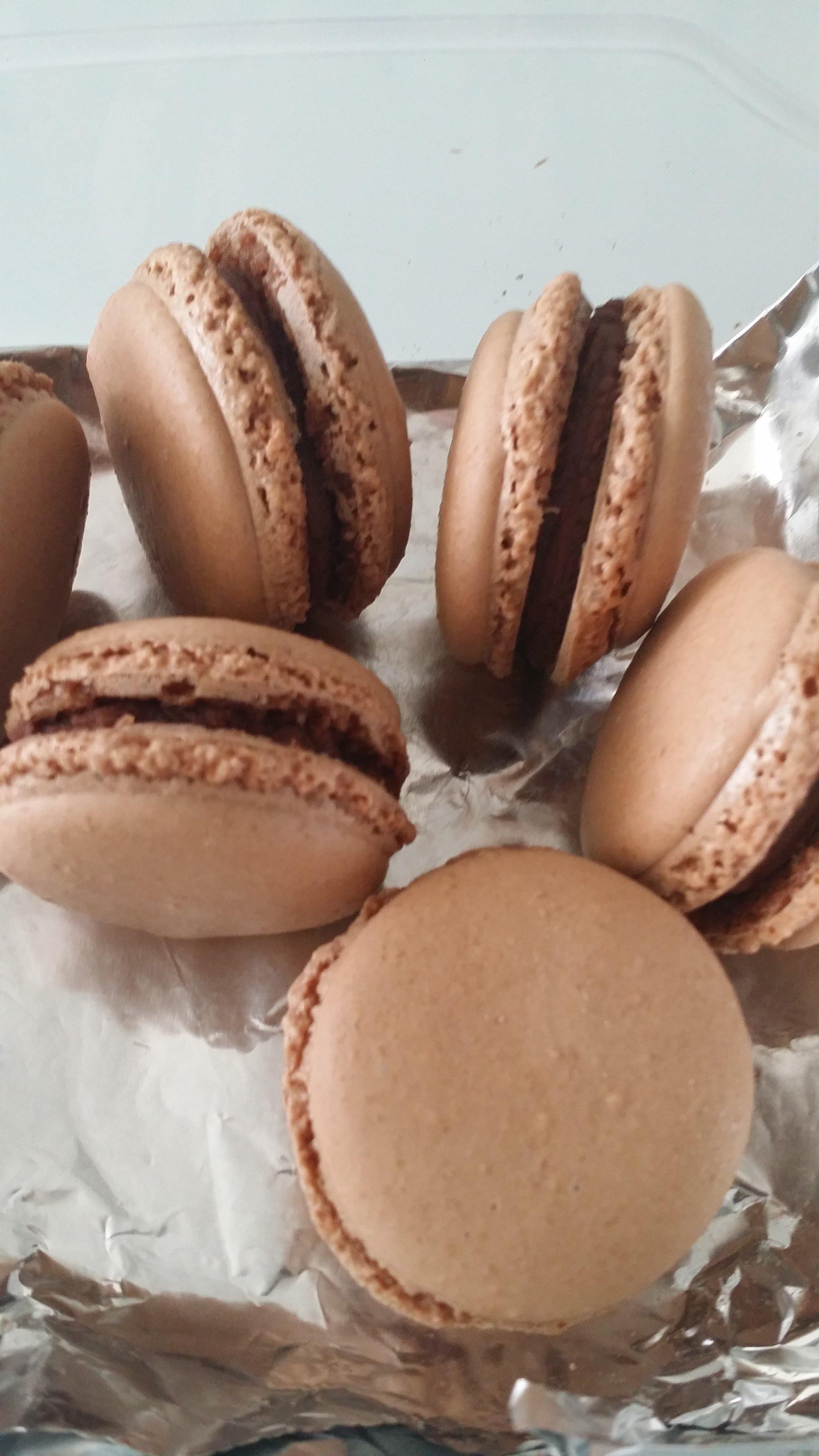 Macaron totalement chocolat