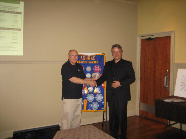 Dwight Scott presenting a momento to Daniel Lauzon - May 2013 Guest Speaker