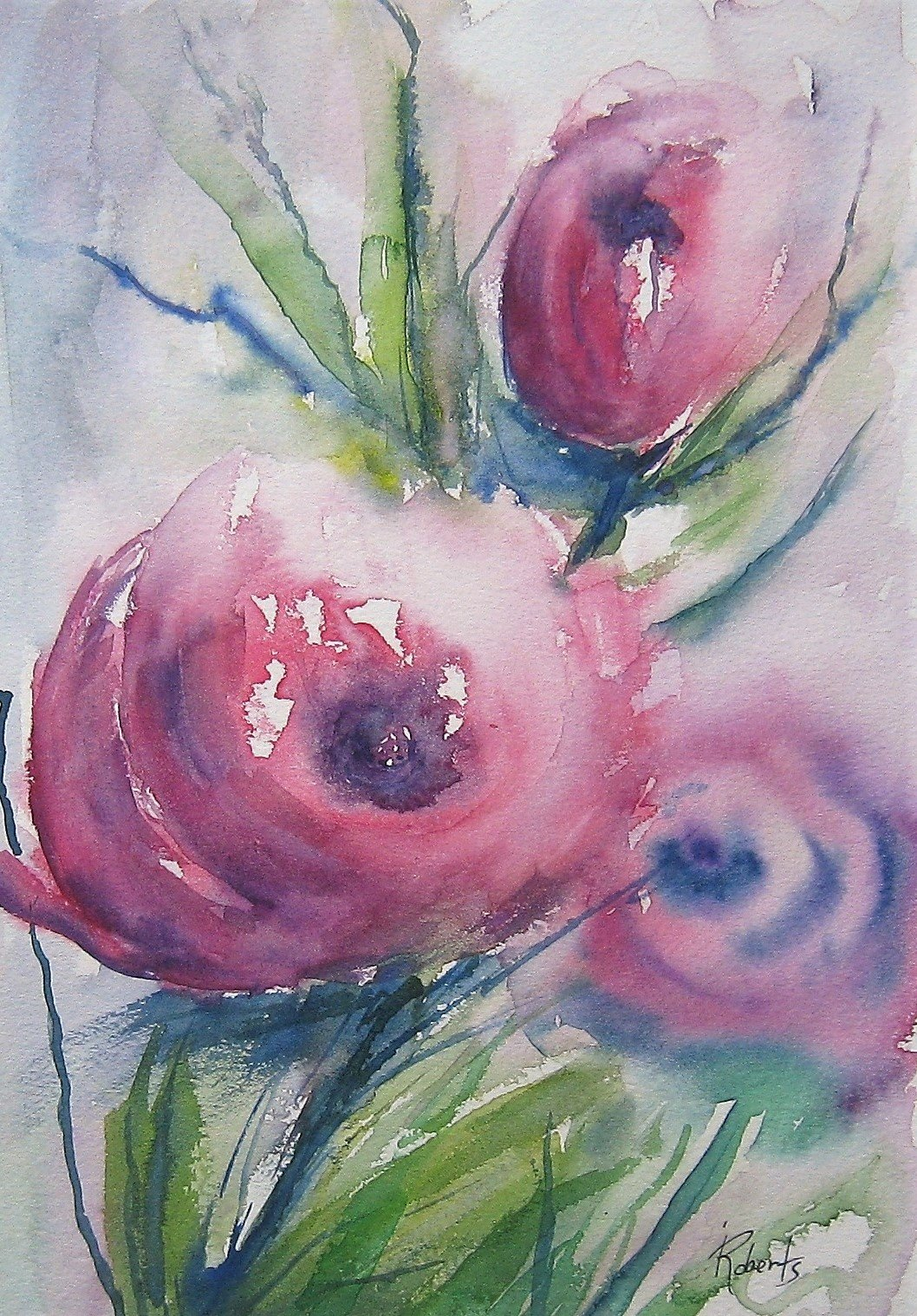 In Bloom 9.5 x 6.5 unframed
