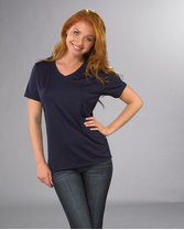 V-Neck Wicking T-Shirt