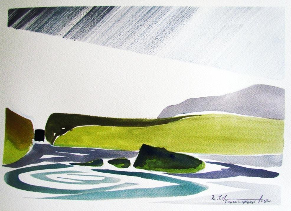 Baptiste Lake Watercolour