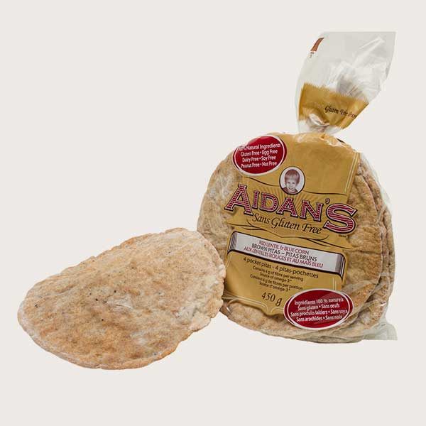 Aidan's Gluten-Free Brown Pitas