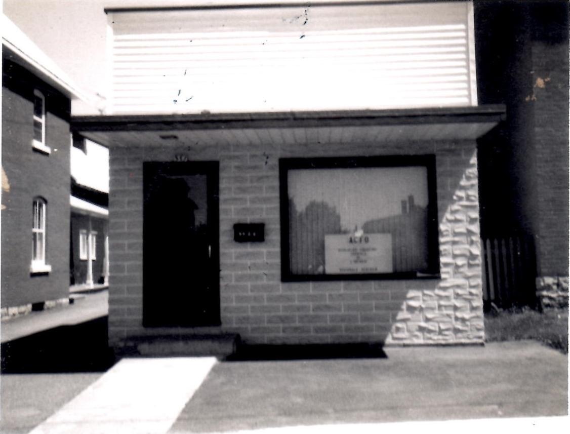 Premier bureau de l'ACFO-Champlain