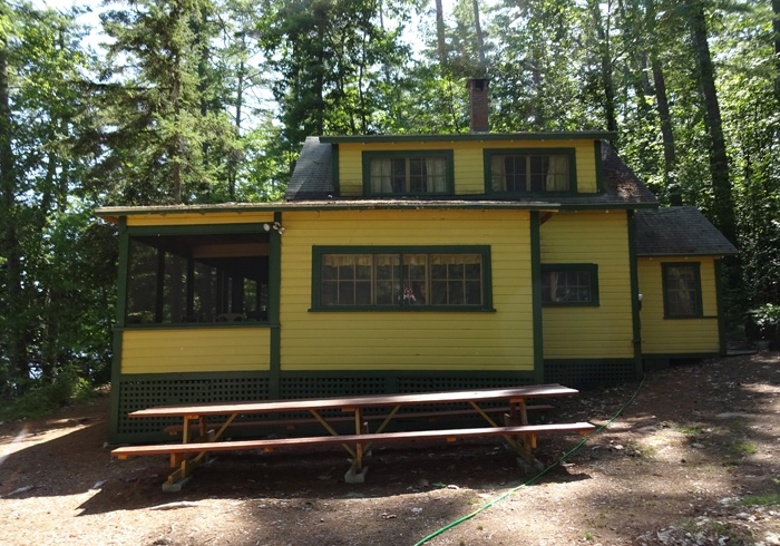 Side view of Yellow Cottage