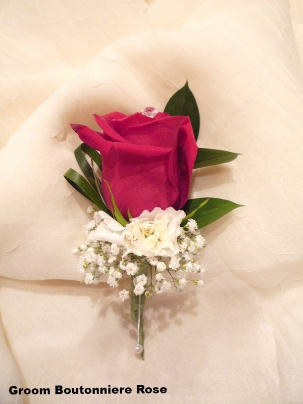 Groom Boutonniere Rose