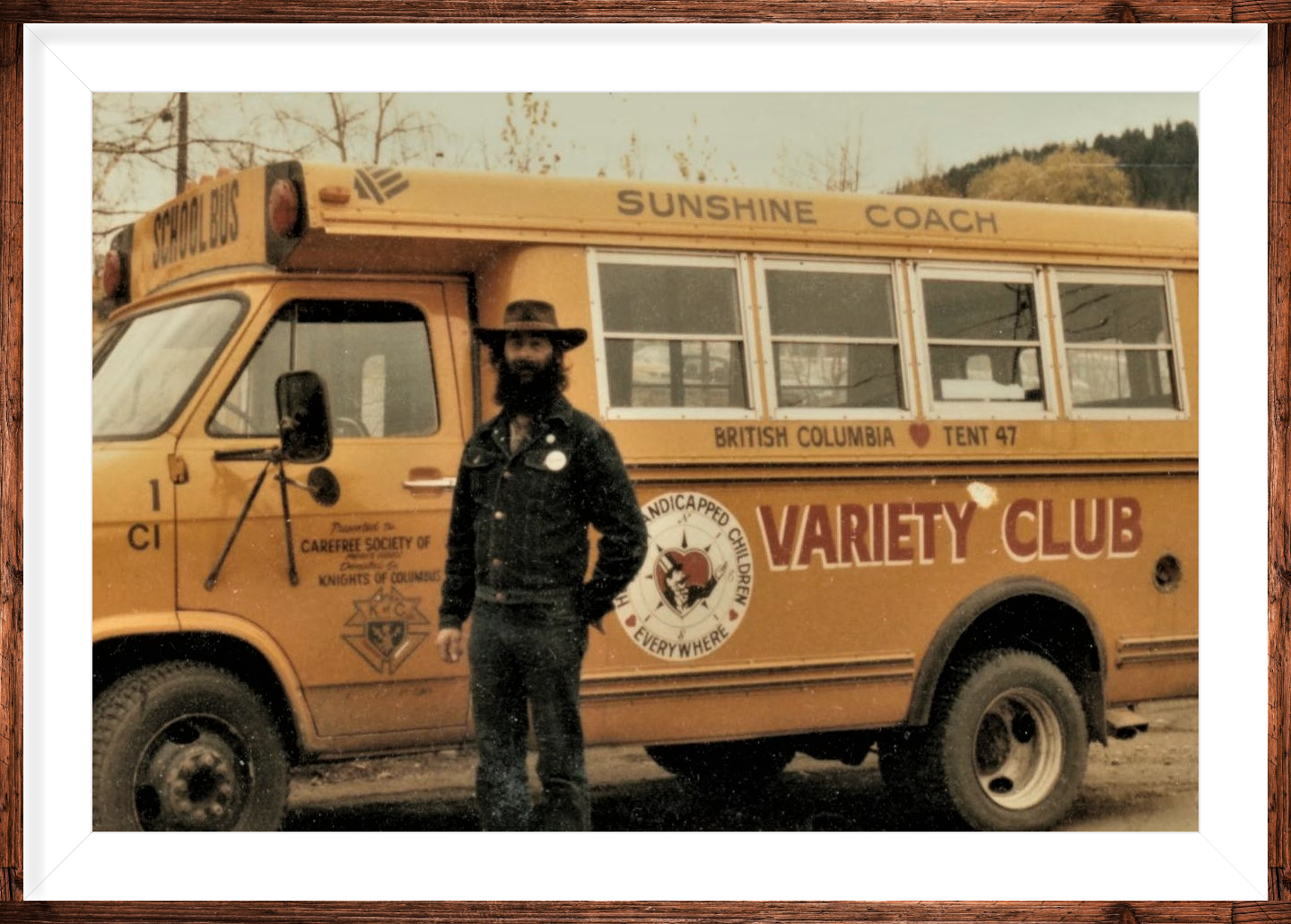 Don with Variety Club bus