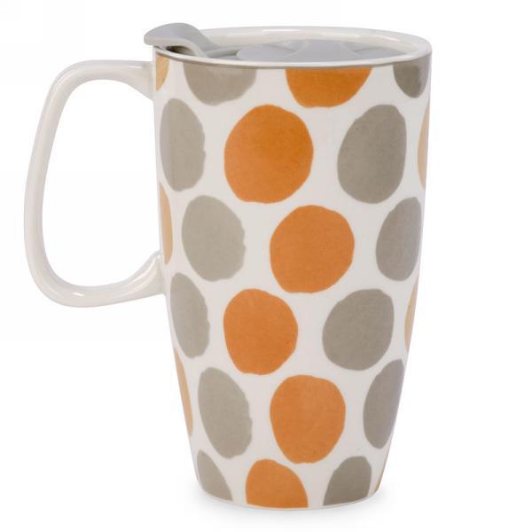 """Ceramic Dot Travel Mug 4"""" x 6"""" $12.99"""