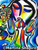 Shabbat Peace Jewish painting fine art