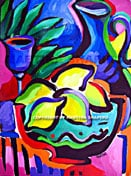 Sukkot original Jewish fine art painting by artist Martina Shapiro