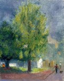 "Nancy's Two Trees 11"" x 14"" oil on linen"