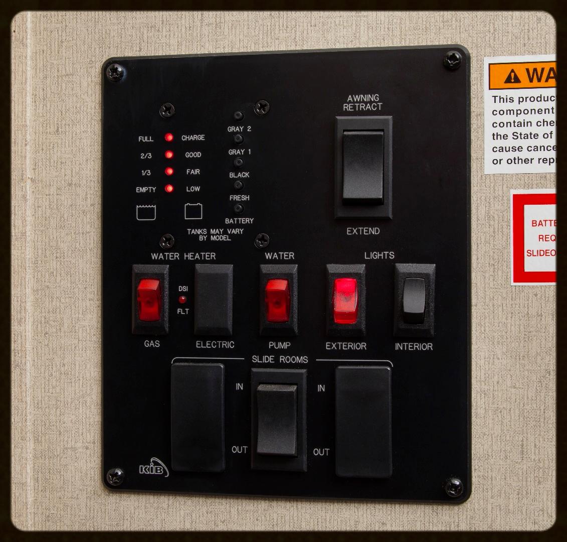 285BH control panel