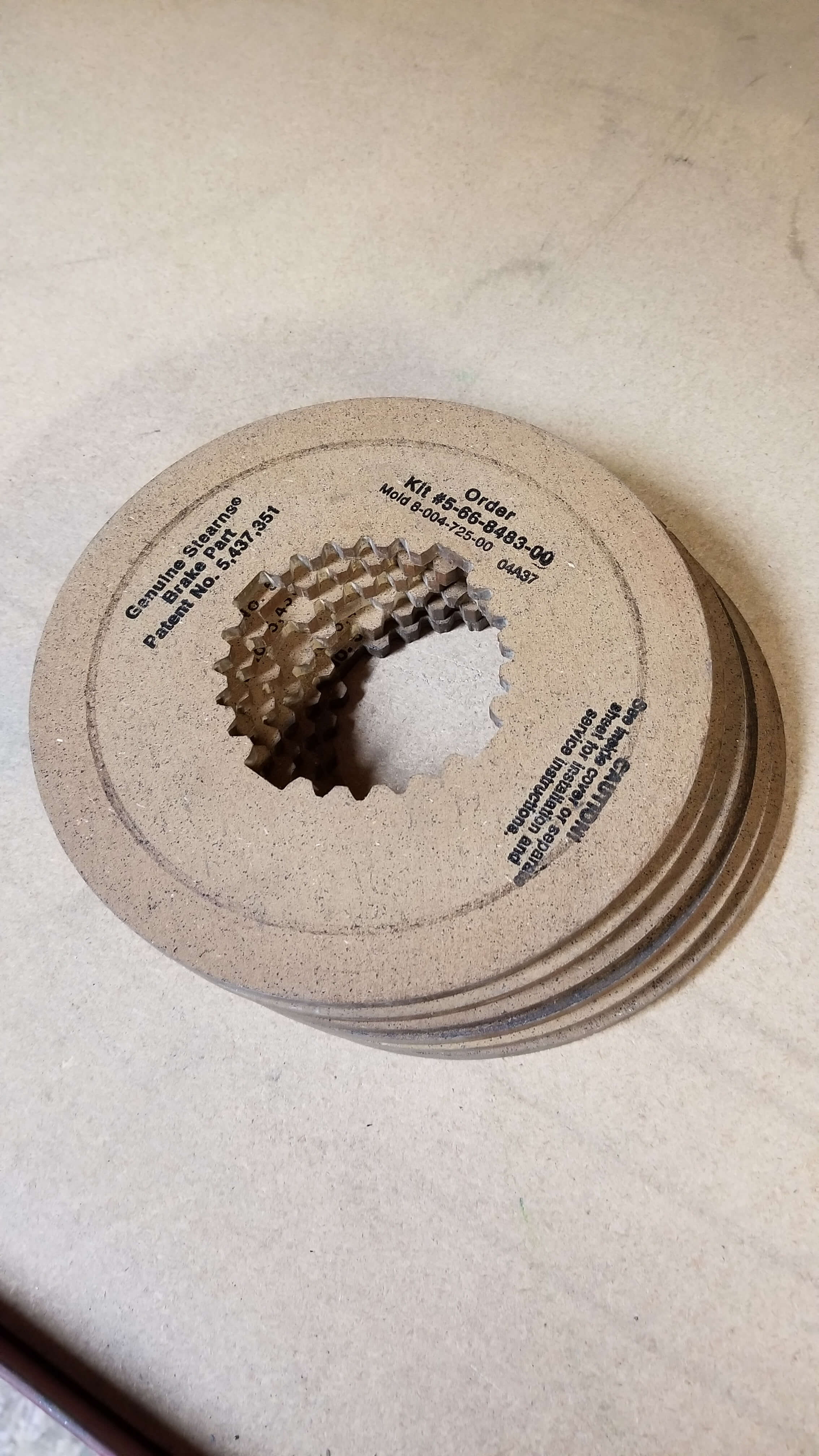 Stearns Brake Disc  P/N: 5 66 8483 00 $225.00/pc