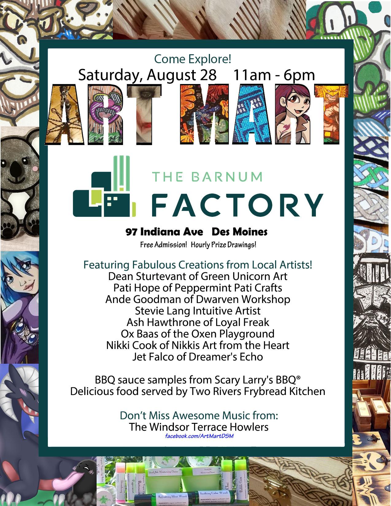 Art Mart Des Moines at the Barnum Factory