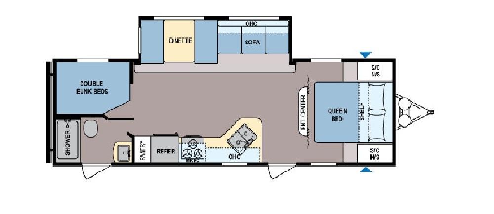 Coleman 263BH Floorplan