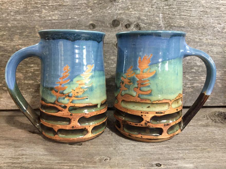 """Tree Mug 3"""" x 4.25"""" $34"""