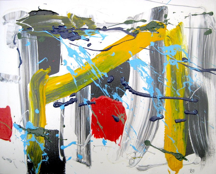 """Ross Bishop """"Open Up""""  2020 A/C  24""""x20"""" Available at LaParete Gallery - Toronto"""