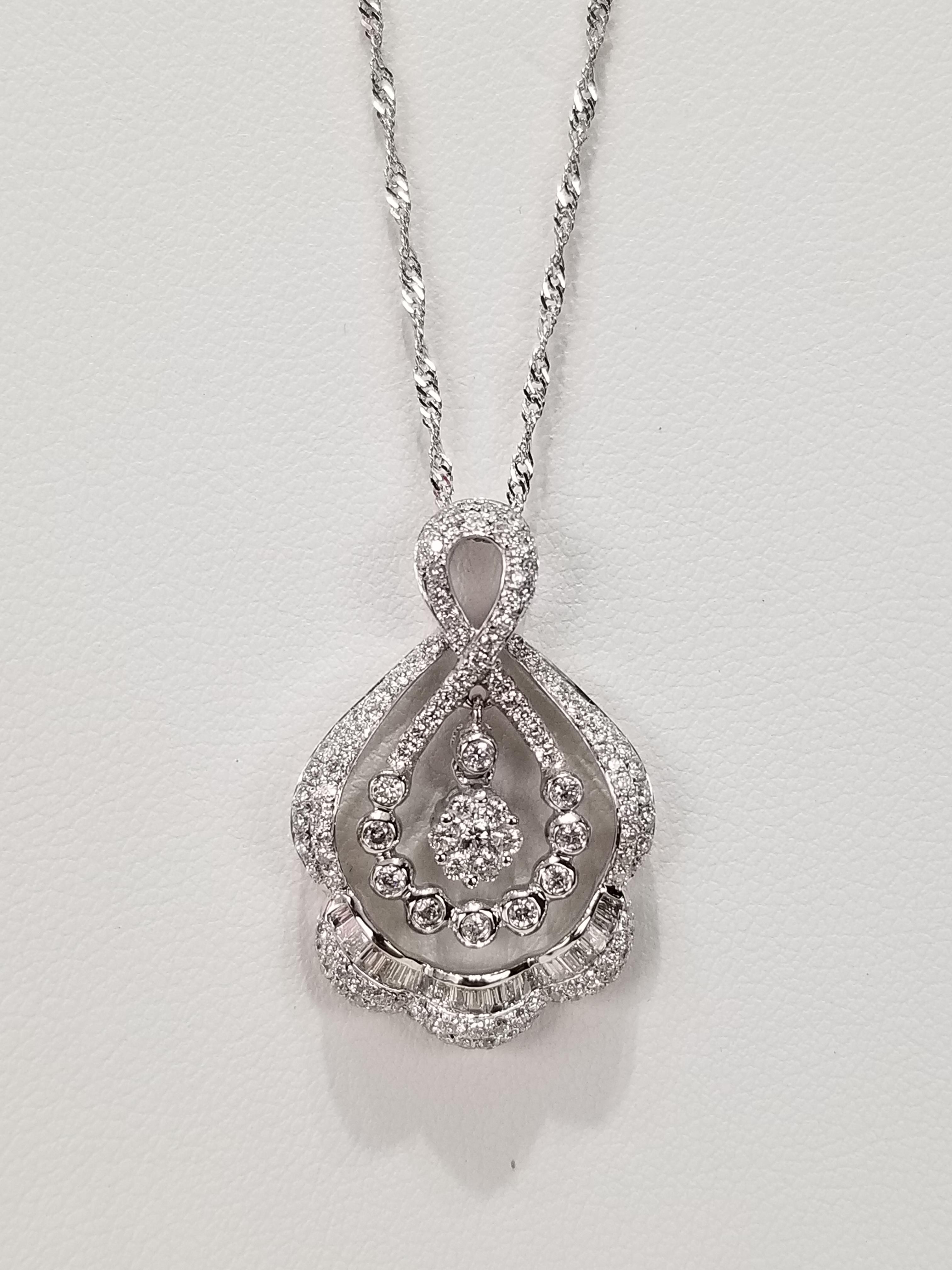 14K White Gold Diamonds 0.88ct Regular Price $3750 SALE $1025 Ref HM645