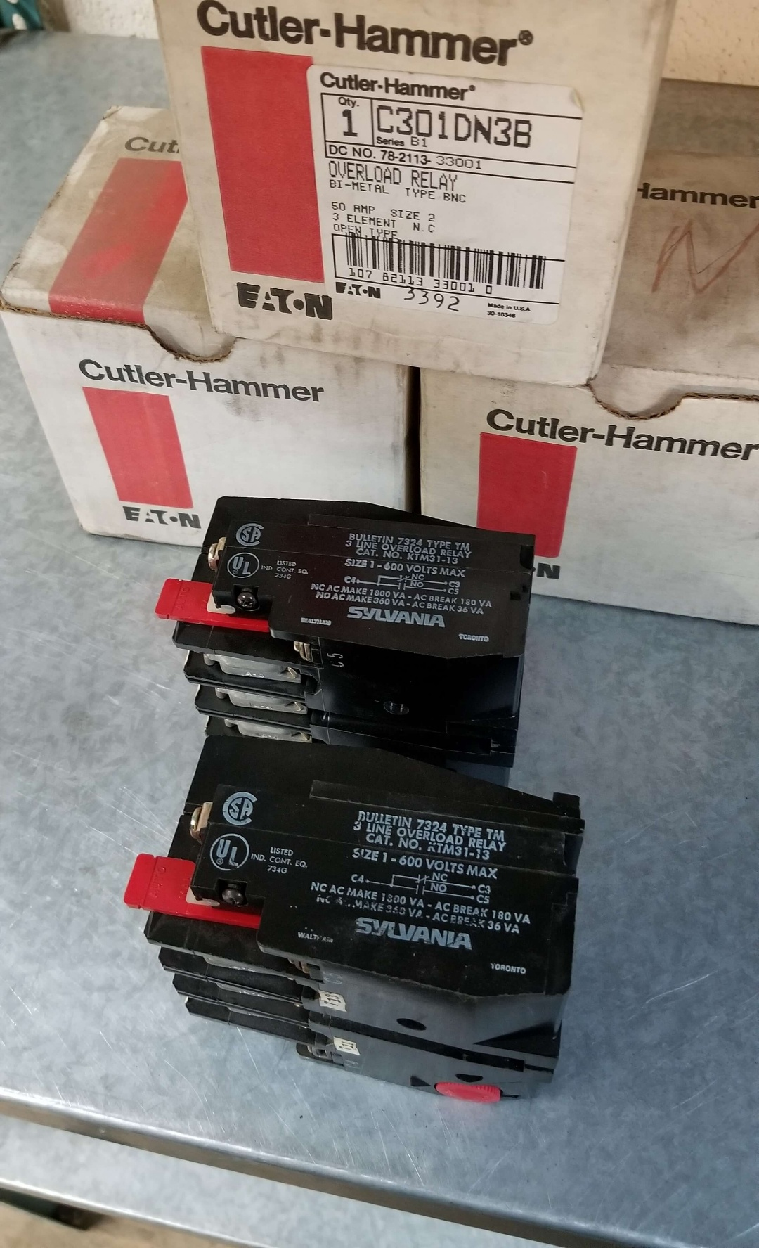 Cutler-Hammer Overload Relay P/N: C301DN3B $300.00
