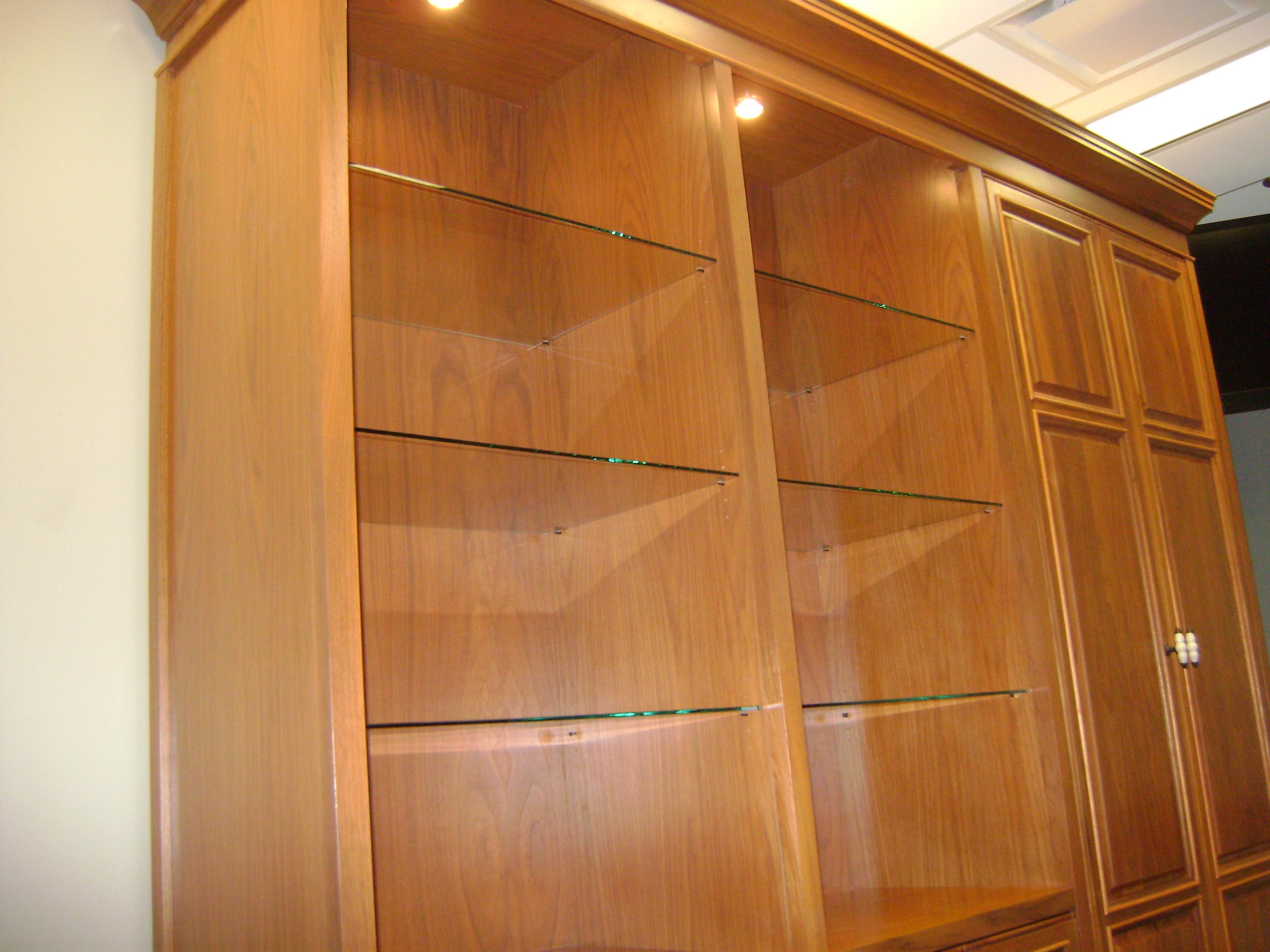 Glass Shelves and  Lighting