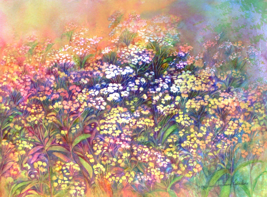 """Fleurs des champs Aquarelle 15"""" x 22"""""""